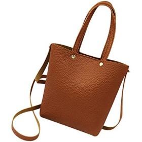 HZ-ZHEGE レディースバッグ 女性革ハンドバッグショルダーバッグ固体大容量ハンドバッグトートバッグ