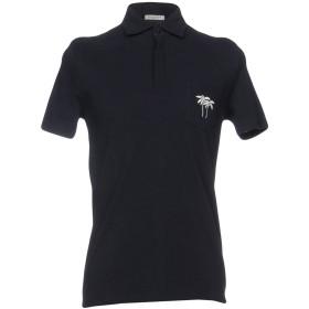 《期間限定セール開催中!》PAOLO PECORA メンズ ポロシャツ ダークブルー S コットン 100%