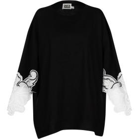 《セール開催中》FAUSTO PUGLISI レディース T シャツ ブラック S コットン 100%