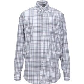 《期間限定セール開催中!》BRUNELLO CUCINELLI メンズ シャツ グレー S コットン 100%