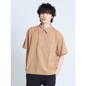 (アバハウス) ABAHOUSE トップス 【展開店舗限定】TRストレッチハーフジップシャツ メンズ ベージュ 48(L)