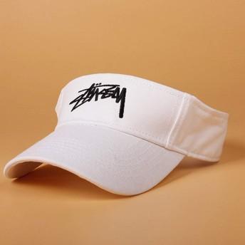 HXLG バイザー帽子、女性と女性のためのサンバイザー、ゴルフサイクリングのための調節可能な帽子釣りジョギングやその他のスポーツキャップ ハット (色 : 白)