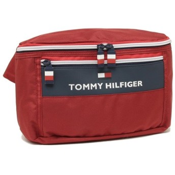 「P10%還元 4/1 20時〜24時」 トミーヒルフィガー ウエストバッグ メンズ レディース TOMMY HILFIGER TC090CT9 TOMMY RED レッド