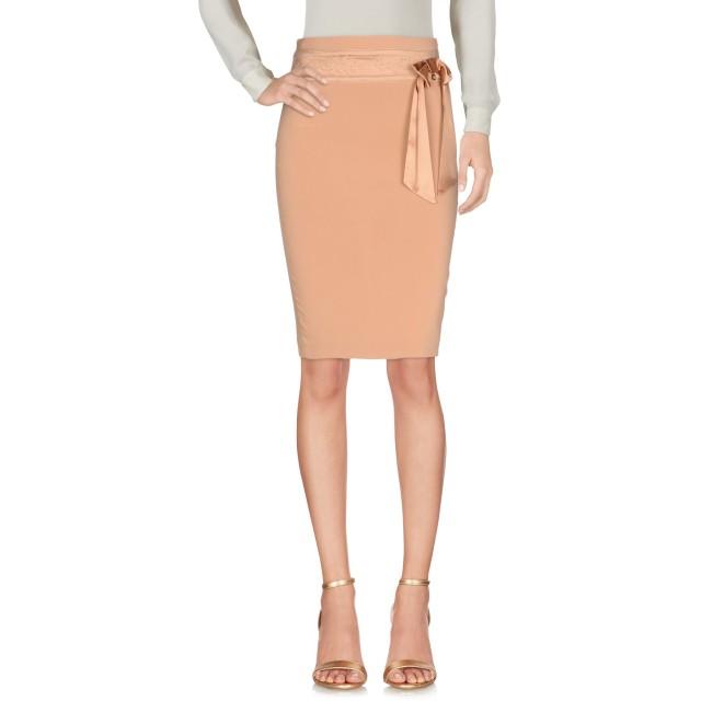 《セール開催中》ELISABETTA FRANCHI 24 ORE レディース ひざ丈スカート サンド 38 レーヨン 97% / ポリウレタン 3% / シルク
