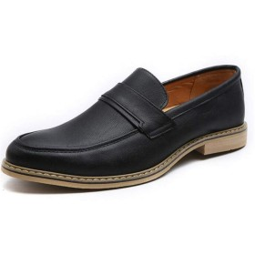 [ジョイジョイ] 男性 ローファー オックスフォード ポインテッドトゥ 防滑 モカシン フォーマル ビジネス ウェディング ドレスシューズ アンティーク感 ローカット 履きやすい 紳士靴