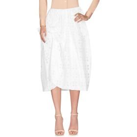 《期間限定セール開催中!》SIMONE ROCHA レディース 7分丈スカート ホワイト 10 コットン 80% / ポリエステル 20%