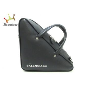 バレンシアガ BALENCIAGA ハンドバッグ 美品 トライアングル ダッフル S 476975 黒 レザー    値下げ 20200309