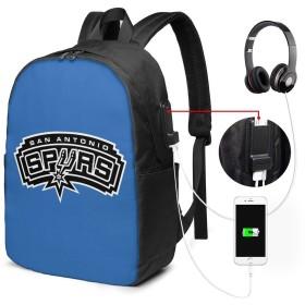 San Antonio Spurs 1 リュック PC ビジネスバックパック リュックサック大容量 ラップトップバック USB充電ポート付き 防水 通学 出張 旅行用 男女兼用 17インチ