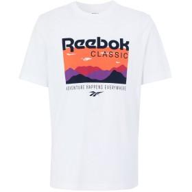 《期間限定セール開催中!》REEBOK メンズ T シャツ ホワイト S コットン 100% CL F TRAIL GRAPHIC