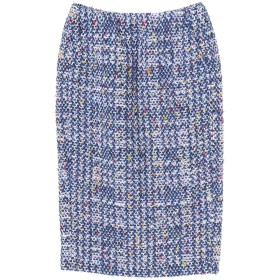 COOHEM コーヘン/オータムチェックツィードニットスカート その他 スカート,ブルー