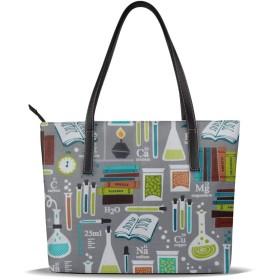 バッグ トートバッグ かがく科学 ハンドバッグ ショルダーバッグ 革 収納 大容量 軽量 防水 盗難防止 誕生日 入学式 母の日 ビジネス 旅行 多機能