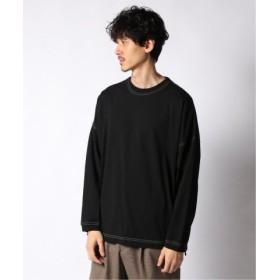 (JOURNAL STANDARD/ジャーナルスタンダード)PANNILL/パニール USA FAT ジャージー Tシャツ/メンズ ブラック