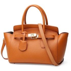 レディースハンドバッグショルダーバッグ、レザーレディースショルダーバッグファッショントートバッグカジュアル&仕事母の日ギフトレディースカジュアルハンドバッグ あなたの終日の必需品 (Color : Brown)