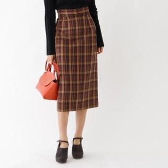 アクアガール(aquagirl)/チェックミモレタイトスカート
