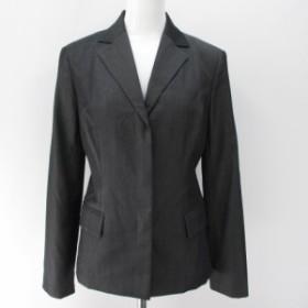 【中古】ボッシュ BOSCH セットアップ 上下 パンツスーツ シングルジャケット ロング丈 パンツ スラックス 38 灰系
