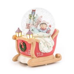 讚爾藝術 JARLL~萌趣搗蛋熊的聖誕Party 聖誕 水晶球音樂盒(KC2001) 聖誕節 (預購)