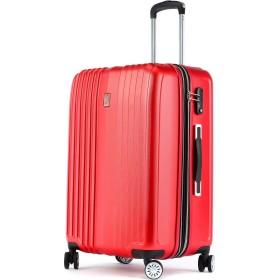 Totell スーツケース 容量拡張機能付 キャリーケース 超軽量 【1年間修理保証】トランク 旅行 TSAロック搭載 大容量 静音8輪 s型 キャリーバッグ 機内持込可 (S (機内持込)型, レッド)