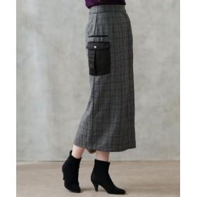 (Gready Brilliant/グレディブリリアン)CKサテンラップタイトスカート/レディース ブラック