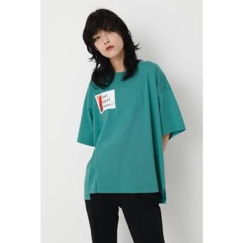 【50%OFF】 マウジー SW OVERSIZED SQUARE Tシャツ レディース GRN FREE 【MOUSSY】 【セール開催中】