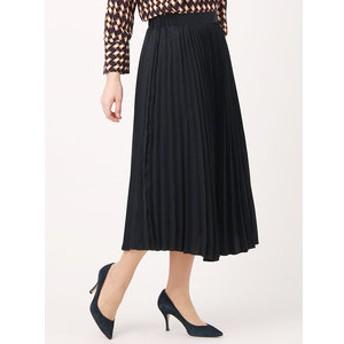 【UNIVERSAL LANGUAGE:スカート】【ハンドウォッシュ】ピーチサテンプリーツスカート