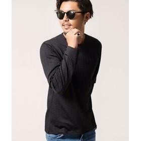 シルバーバレット CavariAふくれケーブル柄クルーネック長袖Tシャツ メンズ ブラック 44(M) 【SILVER BULLET】
