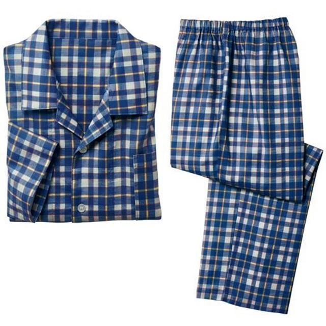 【レディース】 綿100%ビエラシャツパジャマ(男女兼用) - セシール ■カラー:グレー系チェック柄 ■サイズ:M,L,LL,3L,5L,S