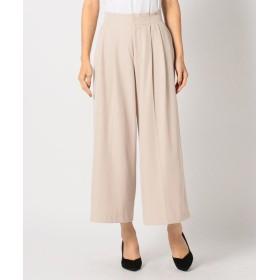 【62%OFF】 ミューズ リファインド クローズ タックワイドパンツ レディース ベージュ M 【MEW'S REFINED CLOTHES】 【セール開催中】