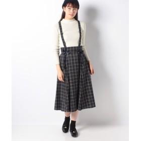 (Secret Honey/シークレットハニー)共地ミディ丈マチ付きスカート/レディース グリーン