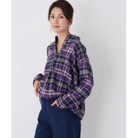 3can4on サンカンシオン タックチェックネルシャツ
