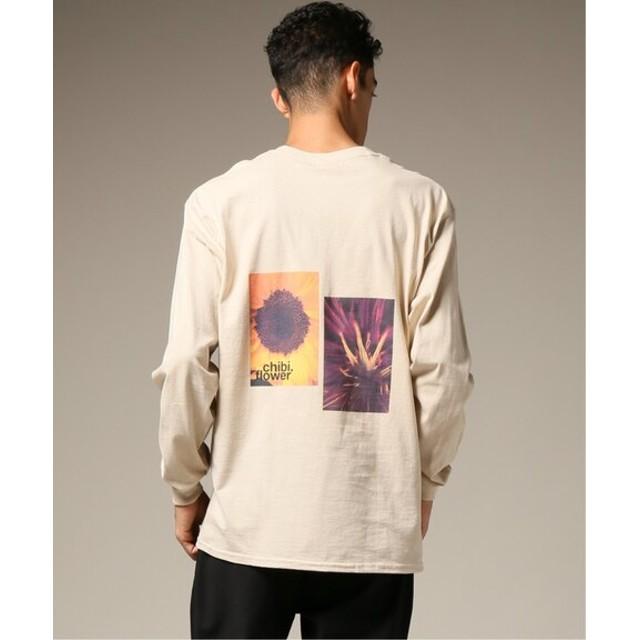 417 EDIFICE CHIBI. FLOWER BACK DOUBLE PRINT ロングスリーブTシャツ ベージュ L