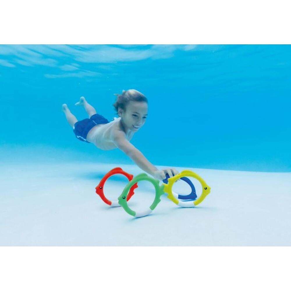 快速出貨 intex 魚浮標(1組4個) 游泳第一訓練課 潛水撿拾 55507