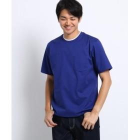 (TAKEO KIKUCHI/タケオキクチ)【 WEB限定 】 フェイクレイヤード 半袖 カットソー/メンズ ライトブルー(091)