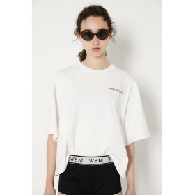 【50%OFF】 マウジー SW EMBROIDERY Tシャツ レディース O/WHT1 FREE 【MOUSSY】 【セール開催中】
