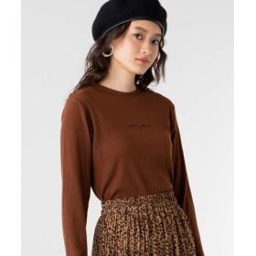 [マルイ] ロゴ刺繍リブTシャツ/ウィゴー(レディース)(WEGO)
