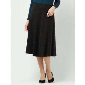 【UNIVERSAL LANGUAGE:スカート】ウールストレッチポンチフレアスカート