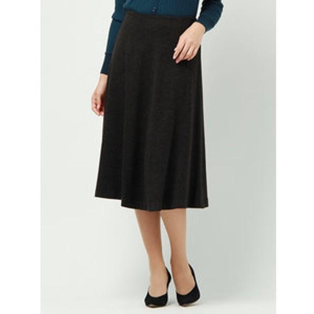 【SALE/送料無料】【UNIVERSAL LANGUAGE:スカート】ウールストレッチポンチフレアスカート