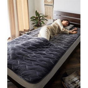 ウォームコアスーパー 吸湿発熱×蓄熱保温わた しっとりフランネル足入れ敷パッド 敷きパッド・ベッドパッド, Bed pats, 床套