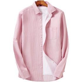 MM シャツ メンズ 長袖 シンプル オシャレ 軽い柔らかい ストライプ クラシック チェックシャツ