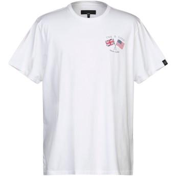 《セール開催中》RAG & BONE メンズ T シャツ ホワイト L コットン 100%