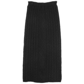 Re: EDIT 表情豊かなケーブルデザインでコーデの主役に ケーブルニットロングスカート スカート/スカート ブラック M レディース 5,000円(税抜)以上購入で送料無料 ロングスカート 夏 レディースファッション アパレル 通販 大きいサイズ コーデ 安い おしゃれ お洒落 20代 30代 40代 50代 女性 スカート