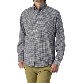 (フラグオンクルー) FLAG ON CREW ボタンダウンシャツ メンズ 長袖 シャツ チェックシャツ ストライプシャツ / A4M / M ブラックギンガムチェック