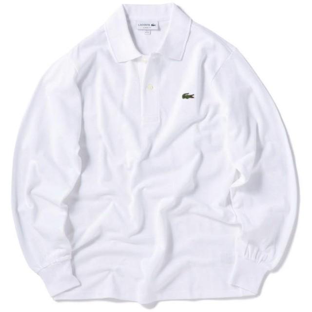 シップス LACOSTE:ロングスリーブ ポロシャツ L1312 メンズ ホワイト 2 【SHIPS】