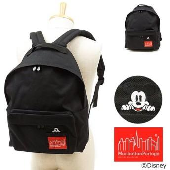 マンハッタンポーテージ Manhattan Portage ミニポーチ付き ミッキーマウス ビッグアップル バックパック Mickey Mouse リュックサック BLACK MP1210MIC19 FW19