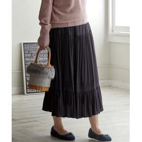 ピンタックギャザースカート (大きいサイズレディース)スカート, plus size, Skirts, 裙子