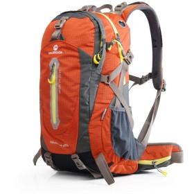 アウトドア登山ハイキングのショルダーバッグの男性と女性のアウトドアリュックサックアウトドアトラベルバッグ,オレンジ50L