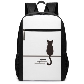 JINGwenhao 猫と壁 リュック バックパック 男女兼用 多機能 大容量 ノートパソコン収納可能 通勤 通学 オシャレ