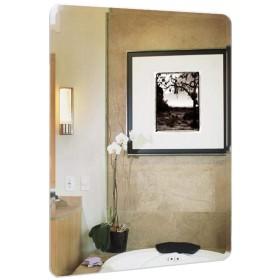 Jyjzf-壁掛け鏡 バスルームミラー 長方形ウォールミラー| フレームレスミラー 壁掛けミラー ウォールマウント装飾ミラー|マウサー バニティミラー 玄関、洗面所、リビングルーム用の剃毛ミラー