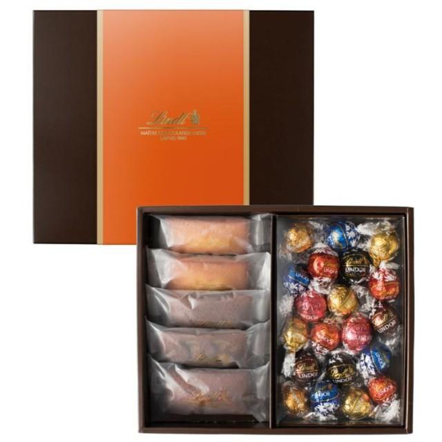 リンツ Lindt チョコレート チョコ スイーツ ギフト 焼き菓子ギフト フィナンシェ5個・リンドール20個