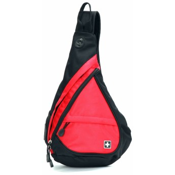SWISSWIN SW9966 ショルダーバッグ メンズバッグ レディースバッグ ボディーバッグ 防水バッグ 斜めがけバッグ 人気 高校生 大学生 おしゃれ 通勤 通学 旅行スクールバッグ 男女兼用 (レッド)