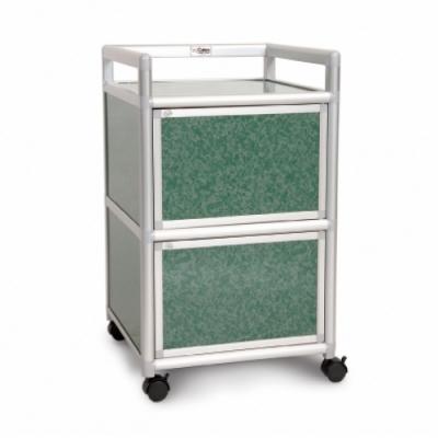 Cabini小飛象-花崗綠得意1.5尺鋁合金2門餐櫃-49.8x50.8x83.6cm